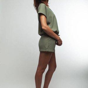 אוברול קצר ירוק זית