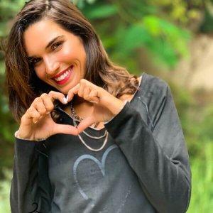 חולצה פרנ'ץ טרי כותנה שחורה לב