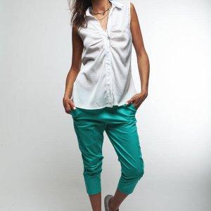 מכנס בצבע ירוק 78 כותנה