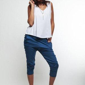 מכנס בצבע כחול 78 כותנה