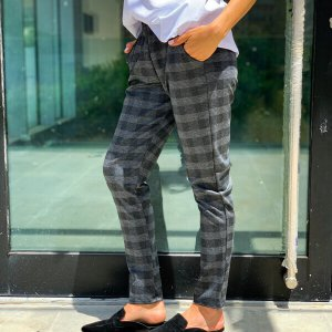 מכנס ג'רסי סקוטי אפור גומי וכיסים
