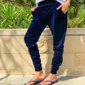 מכנס קטיפה כחול