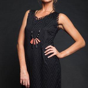 שמלה שחורה שיפון