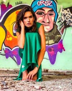 שמלת גלביה מקסי כותנה ירוקה