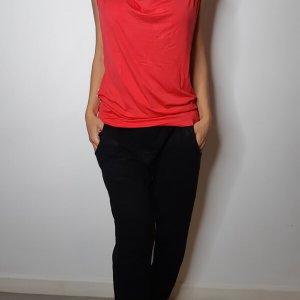 قميص أحمر مخطط مع شريط فضي