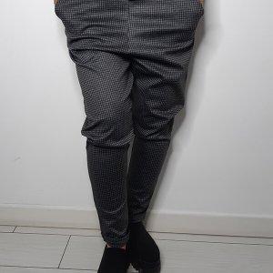 מכנס ג'רסי סקי אפור מרובעים קטנים