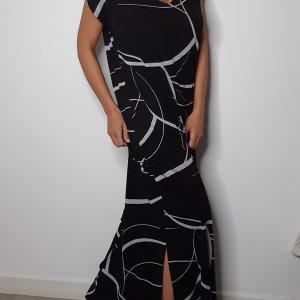 שמלת מקסי שסה שחורה