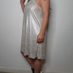 שמלת קולר דמוי עור כאמל