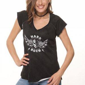 חולצה פרנץ טרי שחורה הארד רוק