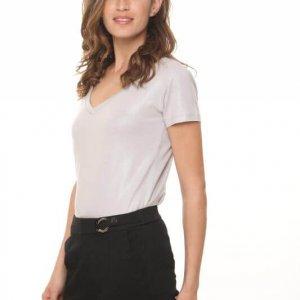 חולצת דמוי עור אפור בהיר