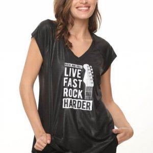 חולצת דמוי עור רוק הארדר