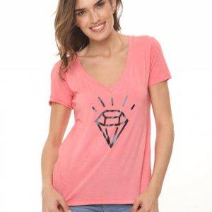 قميص V كورال الماسي