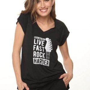قميص قطني Rock Harder
