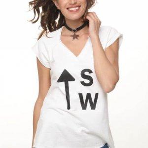 חולצת פרנץ טרי לבנה sw