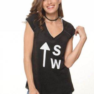 قميص أسود فرانز تيري sw