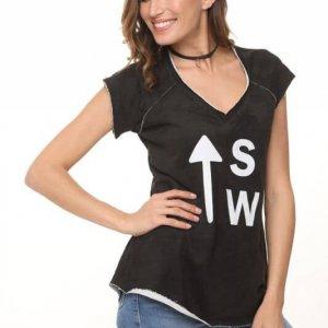 חולצת פרנץ טרי שחורה sw
