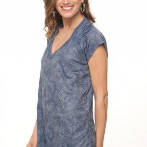 قميص جينيس رينكل مونيك من الجلد الصناعي
