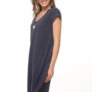 שמלת ווש כחולה כותנה הדפס כוכב
