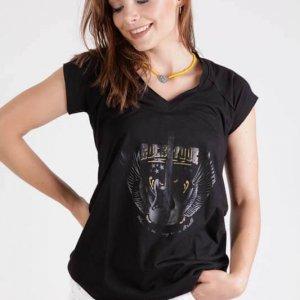 قميص لوليتا أسود