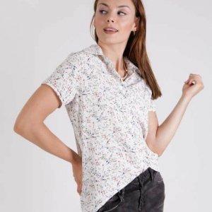 חולצה עינבל לבן פרחוני