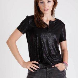 חולצה שירין שחור מנוחש
