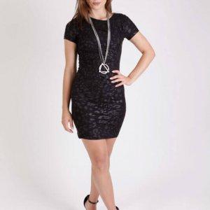 שמלה אמילי שחור מרוח