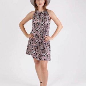 שמלה מגי פייזלי אדום