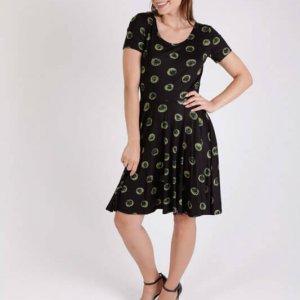שמלת כרתיים עיגול ירוק