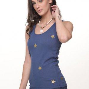 גופיה כוכבים כחולה כוכב זהב
