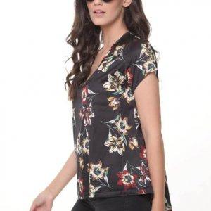 قميص ستان زهري بطبعات الورود