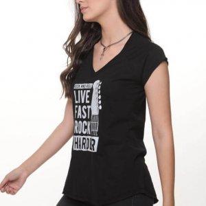 חולצה לירי כותנה שחורה