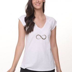 חולצה סלעית כותנה לבנה
