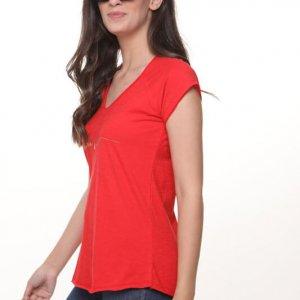 חולצה ריצל כותנה אדומה