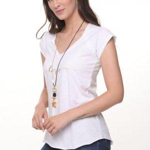 חולצה ריצל כותנה לבנה