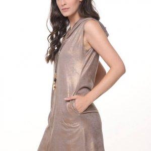 שמלה אביבית זהב