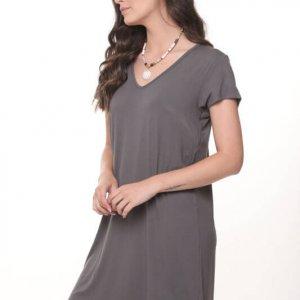 שמלה אלונה אפורה