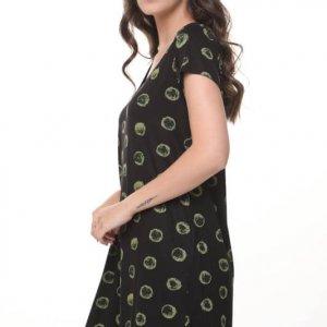 שמלה אלונה עיגול ירוק