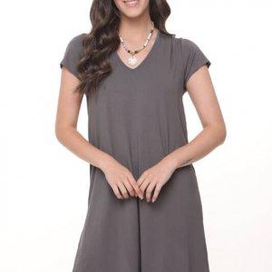فستان من خشب البلوط الرمادي