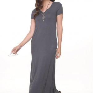 שמלה גילת מקסי אפורה
