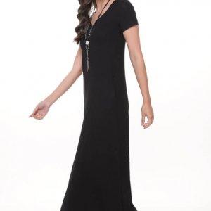 שמלה גילת מקסי שחורה