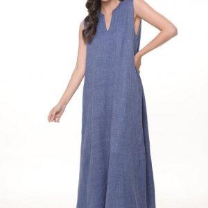 فستان فانيسا ماكسي أزرق