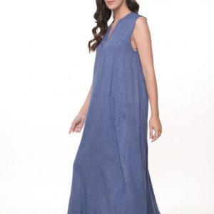 שמלה ונסה מקסי כחולה