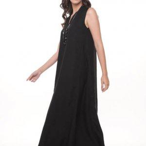 فستان أسود طويل من Vanessa
