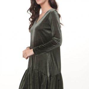 שמלה יסמין קטיפה ירוקה