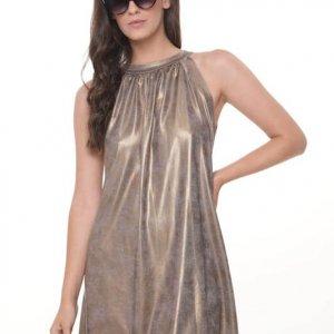 فستان ليني ذهبي