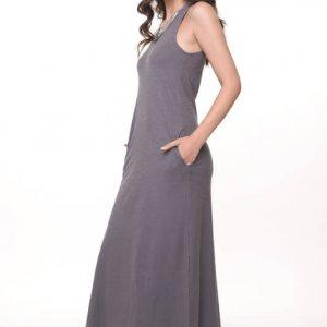 فستان قطن رمادي