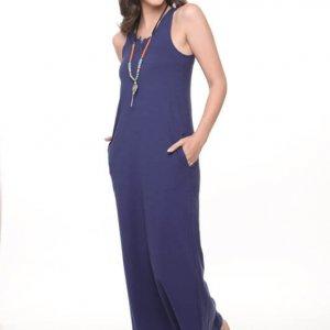 فستان قطن ازرق