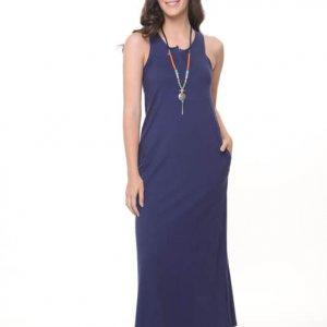 שמלה סילין כחולה כותנה