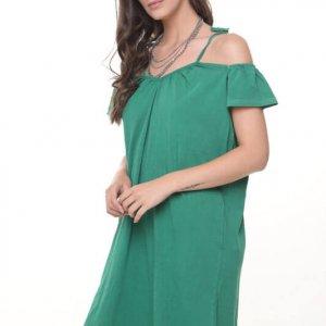 فستان أخضر شفاف