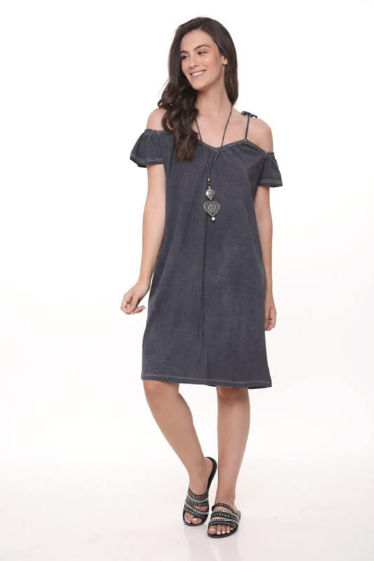 שמלה שקירה אפור כהה